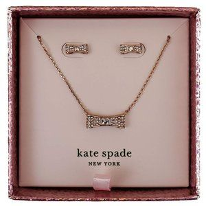 Kate Spade Ready Set Bow Earrings and Necklace Set